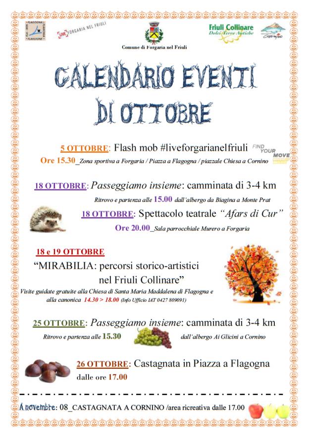 eventi Forgaria ottobre 2014
